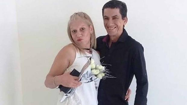 Leonor Báez y su marido