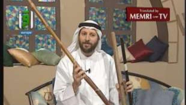 El imán Jasem Al Mutawa, con el palo
