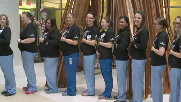 Las enfermeras embarazadas en el Memorial Hospital de South Bend