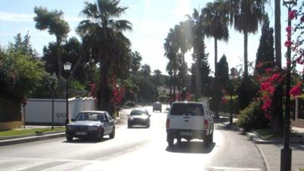 Entrada en la urbanización de Vistahermosa