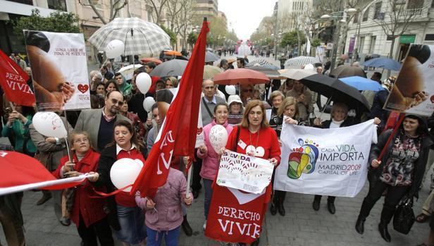 Manifestación en España contra el aborto y el derecho a la vida