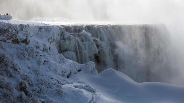 La ola de frío que azotó EE.UU. en enero de 2019 congeló hasta las famosas cataratas del Niágara