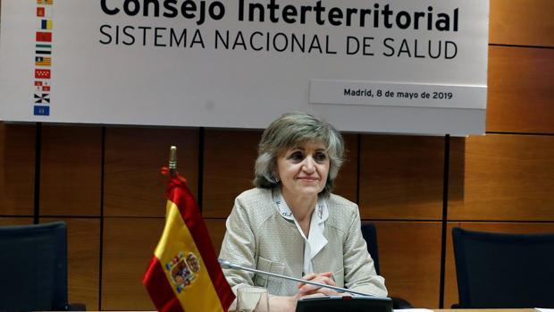 La ministra de Sanidad, María Luisa Carcedo, esta mañana