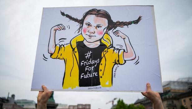 Una representación de Greta Thumberg
