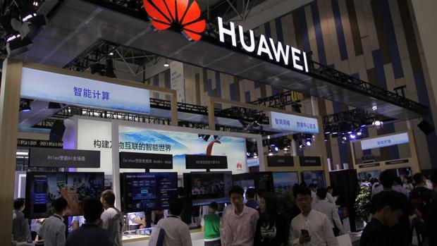 Expositor de Huawei en la feria de Guiyang