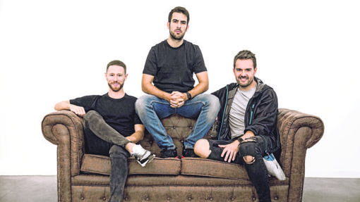 Paco Pérez, Pablo Sánchez y David Moreno, creadores de Hawkers