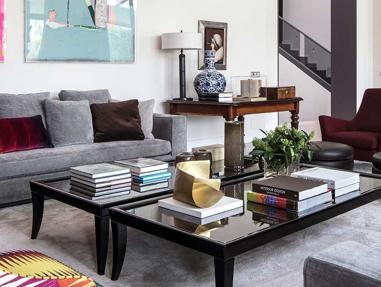 Este ambiente, obra de Diego Rodríguez, tiene el sello del interiorista: la elegancia más personal.