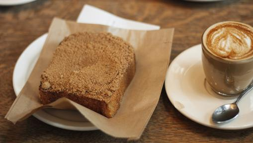 Tostada y café con canela