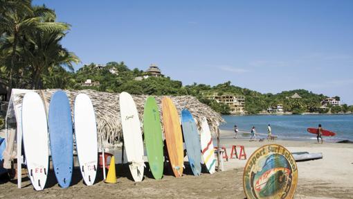 Tablas de surf en Sayulita