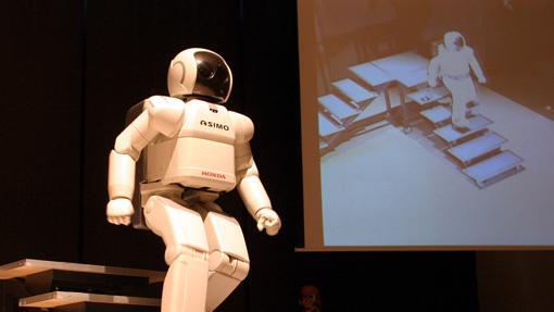 Presentación del robot ASIMO en Barcelona