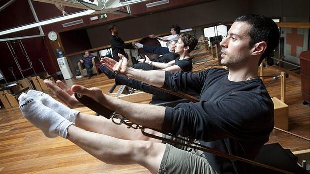 Pilates reformer sexy back arms