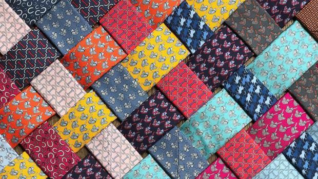 Corbatas de seda de Hermès