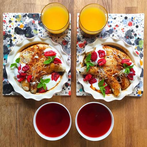 Desayuno simétrico