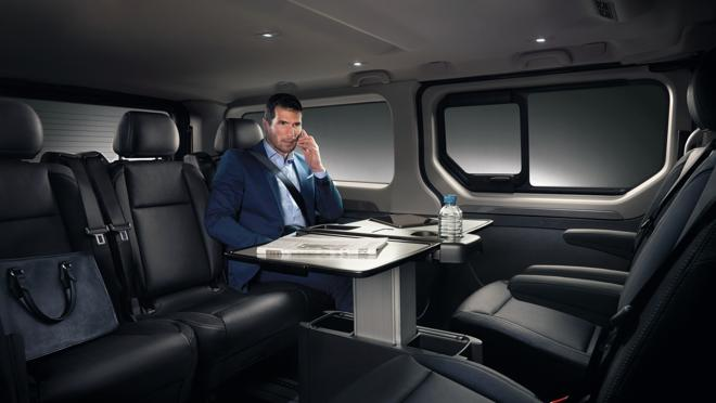 Interior de la Renault Trafic SpaceClass