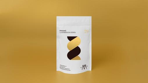 Paquete de café geisha