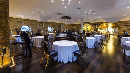 Salón del restaurante Aponiente