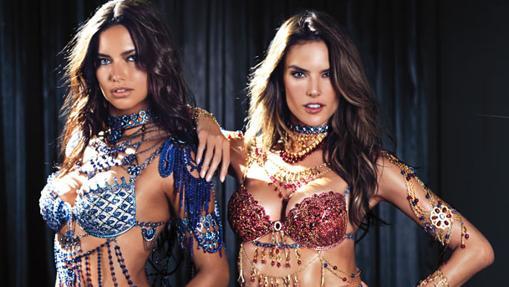 Adriana Lima y Alessandra Ambrosio con el Dream Angels Fantasy Bra