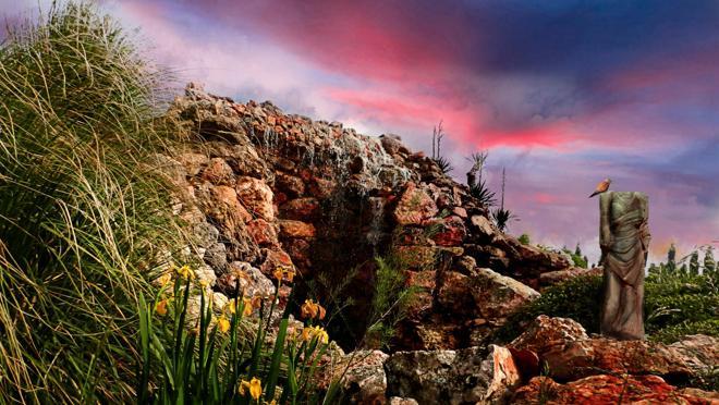 Cascada en los viñedos de Las Pedroñeras
