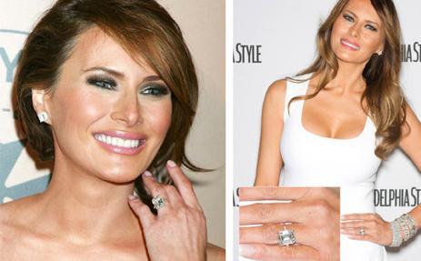 Melania Trump con su anillo de pedida