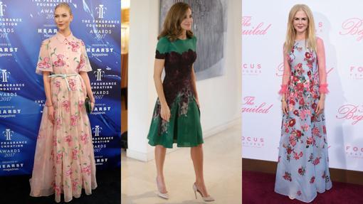 Karlie Kloss, Letizia Ortiz y Nicole Kidman con diseños de Carolina Herrera