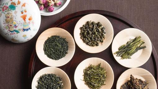 La cocina del té del restaurante Sazenka