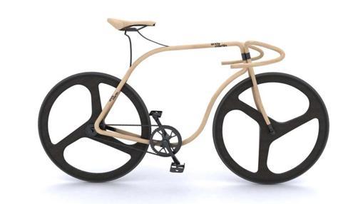 Bicicleta Thonet de madera de haya
