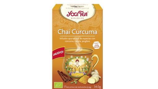 Yogi Tea comercializa bolsitas de Cúrcuma Chai para infusionar en leche