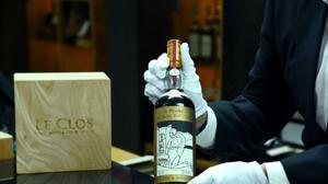 Botella The Macallan 1926 con etiqueta diseñada por Valerio Adami
