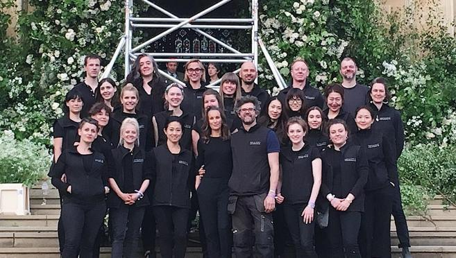 El equipo de Philippa Cradock para la Royal Wedding