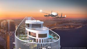 Primer aparcamiento para coches voladores