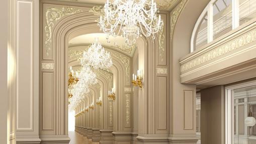 Uno de los pasillos del centro comercial de San Petersburgo