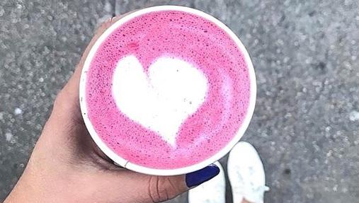 Pink Latte para llevar