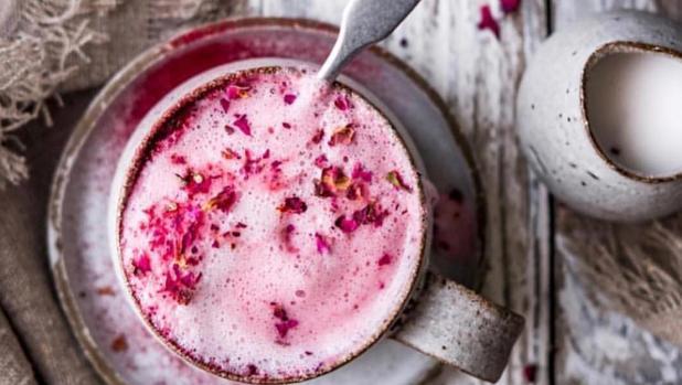 El café rosa es tendencia