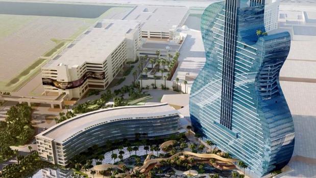 Así será el hotel con forma de guitarra de Hollywood