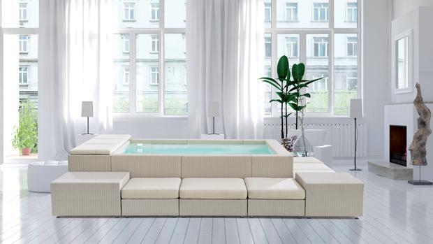 La piscina enchufable italiana que decorará tu salón