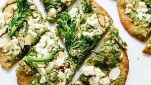 Pizza con bimi, kale y pesto