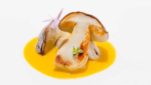 Cep en escabeche de ají amarillo del restaurante Pakta