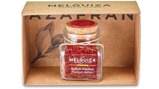 El estuche de 5 gr de azafrán con denominación de origen protegida Castilla-La Mancha premium de La Melguiza