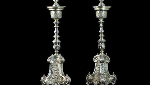 Candeleros en Plata de la segunda mitad del siglo XVIII