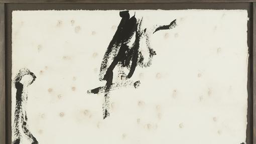 Lienzo de Antoni Tàpies
