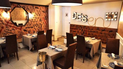 La sala del restaurante Desencaja