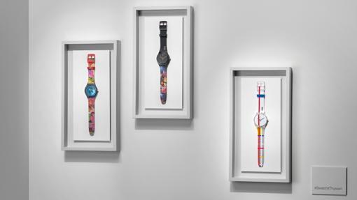 Los tres modelos de la colección Swatch x Thyssen