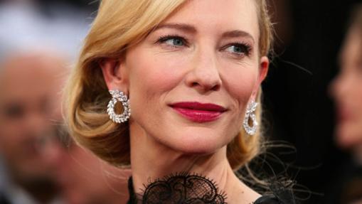 Cate Blanchett durante la alfombra roja de los Globos de Oro 2014