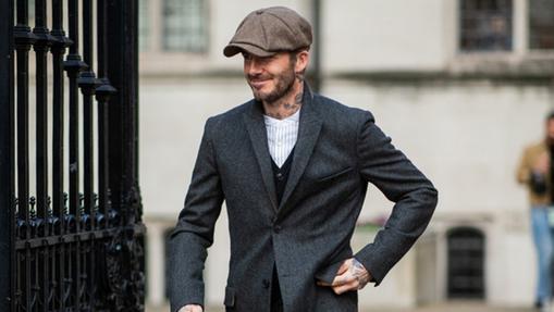 David Beckham con boina