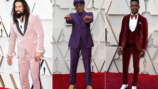 Jason Momoa, Spike Lee y Stephen James en la alfombra de los Oscar