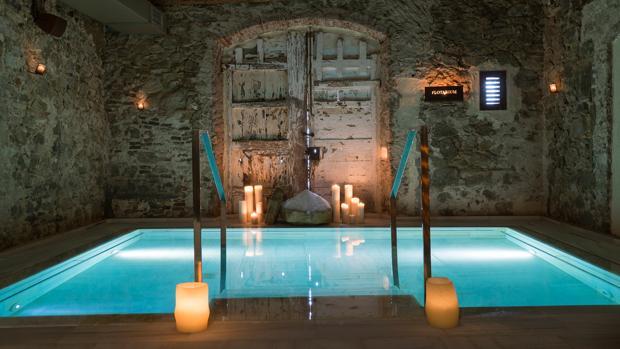 Uno de los espacios de Aire Ancient Baths en Mas Salagros