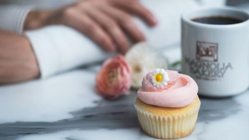 Uno de los cupcakes de Magnolia Bakery