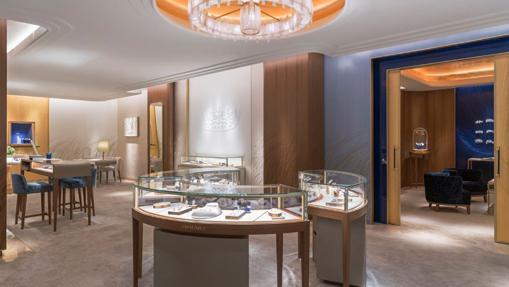 Interior de la nueva boutique de Chaumet en Madrid