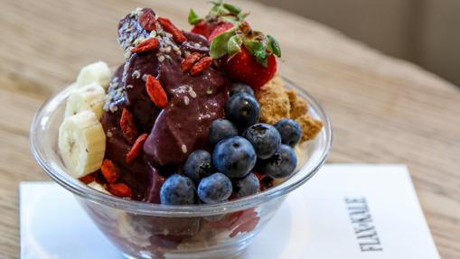 El Açaí bowl de Flax&Kale