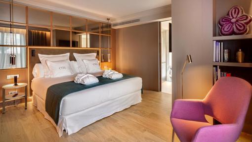 Una de las habitaciones del Hotel Barceló Emperatriz